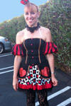Diana Marquardt dressed as the Queen of Hearts.